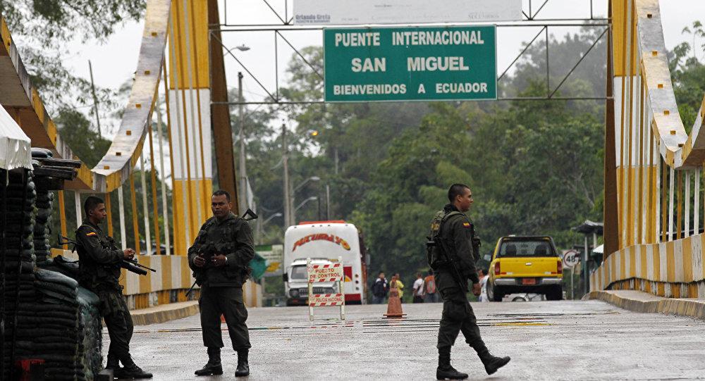 Fronteira entre Equador e Colômbia (arquivo)