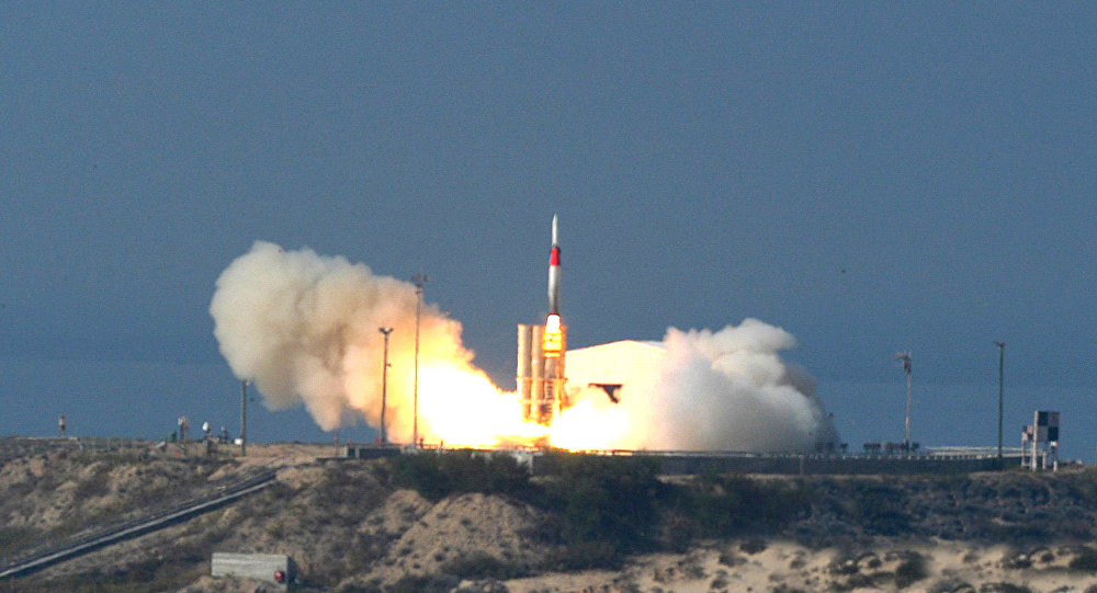 This picture released by Israel Aircraft Industries, Ltd. shows an Arrow missile being launched at an undisclosed location in Israel Friday Dec. 2, 2005 during a succesful test carried out by Israel of its Arrow missile defense system, intercepting and destroying a missile similar to Iran's long-range Shahab-3. Defense Minister Shaul Mofaz said Friday an effective shield is needed in light of Iran's threats against Israel and efforts to develop non-conventional weapons.