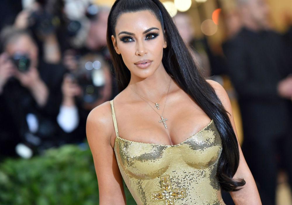 Kim Kardashian aparece durante uma noite gala no Museu de Arte Metropolitan, em Nova York, em 7 de maio de 2018