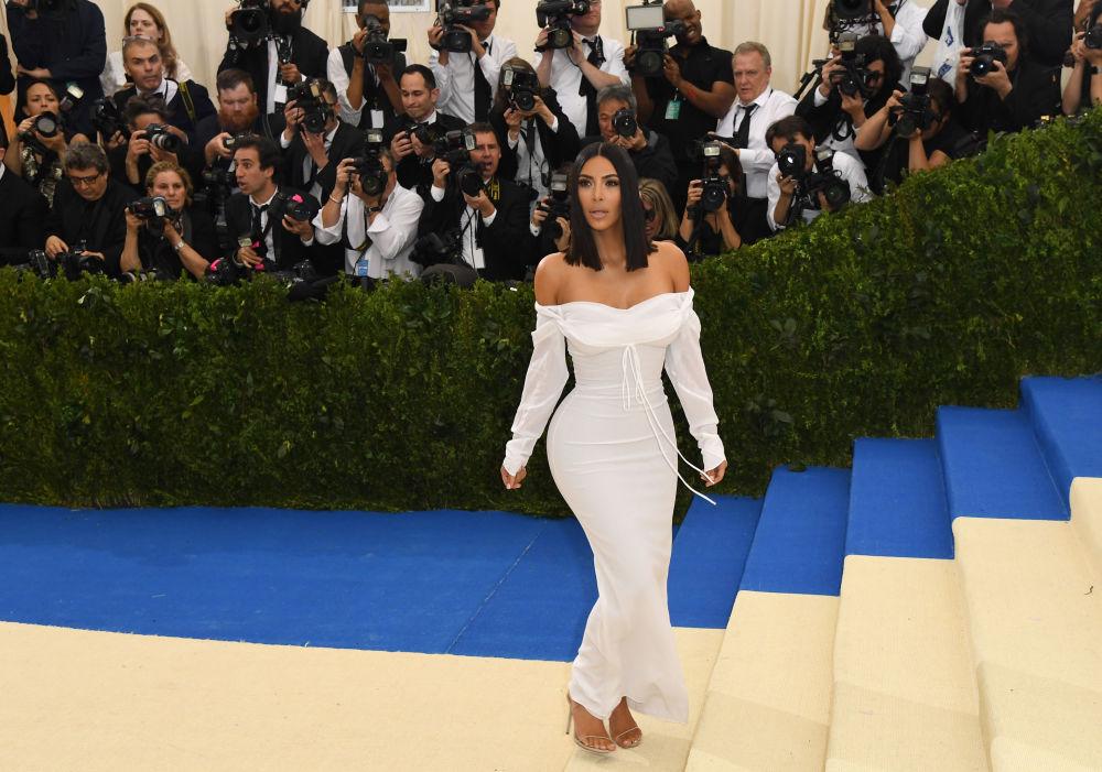 Kim Kardashian participa de um jantar filantrópico no Museu de Arte Metropolitan, em Nova York, em 1º de maio de 2017