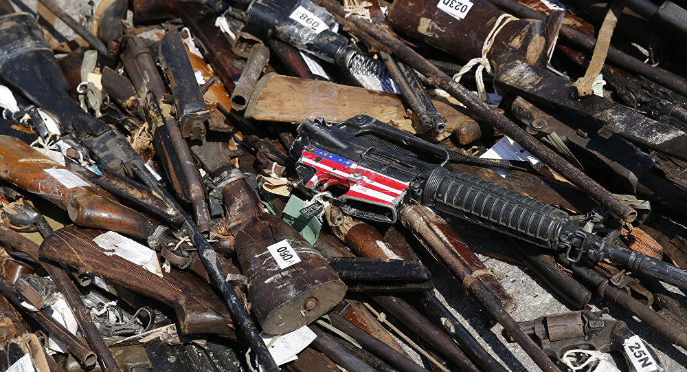 Armas apreendidas pelo Poder Judiciário e pelas polícias Civil e Militar do Rio de Janeiro destruídas pelo Exército Brasileiro e o Conselho Nacional de Justiça (arquivo)