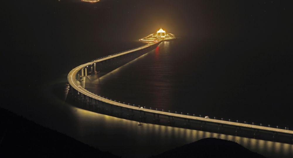 Ponte entre Hong Kong, Zhuhai e Macau (arquivo)