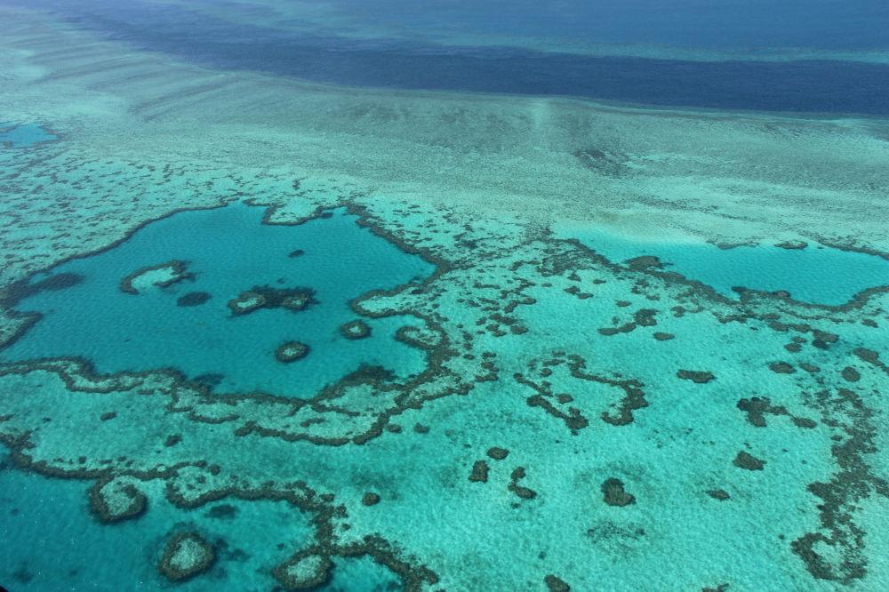Vista para Grande Barreira de Coral na Austrália