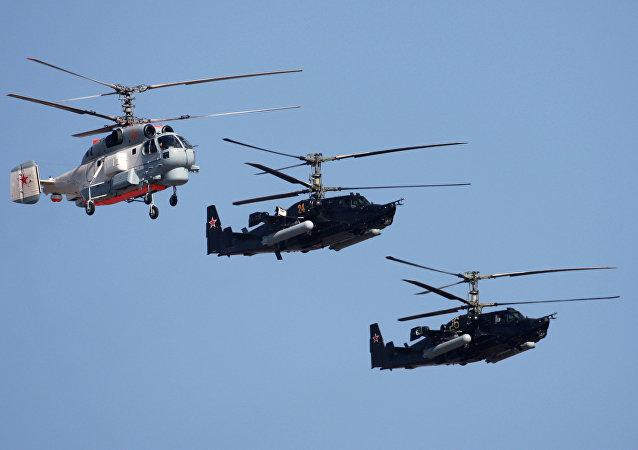 Helicópteros de produção da Kamov, imagem referencial