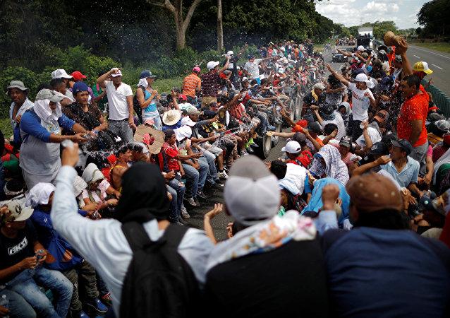 Caravana de imigrantes rumo aos Estados Unidos.