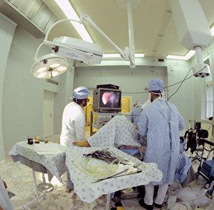 Sala de operação no Centro Obstétrico Snegirev da Academia Médica de Moscou Sechenov (foto de arquivo)