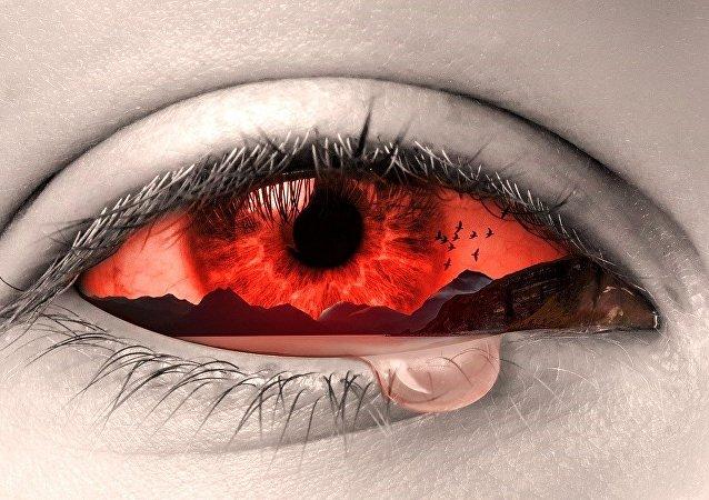 Olho sangrando (imagem referencial)