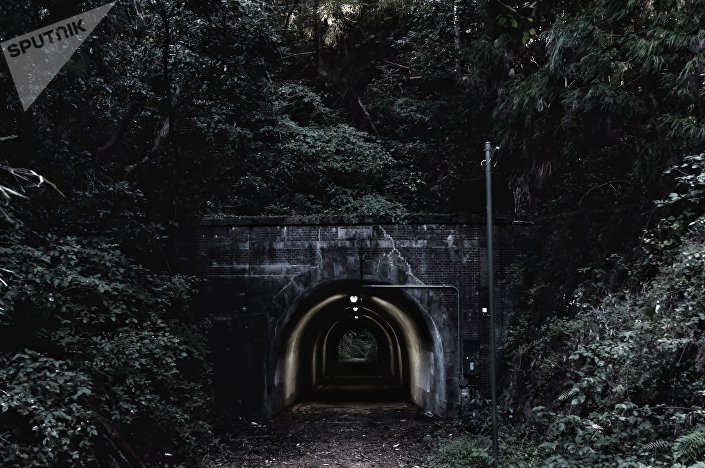 Túnel Komine abandonado, nos arredores de Tóquio, Japão