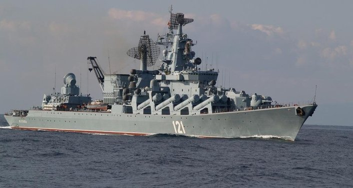 Cruzador de mísseis Moskva.