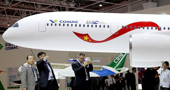 Modelo do avião CR929 (foto de arquivo)