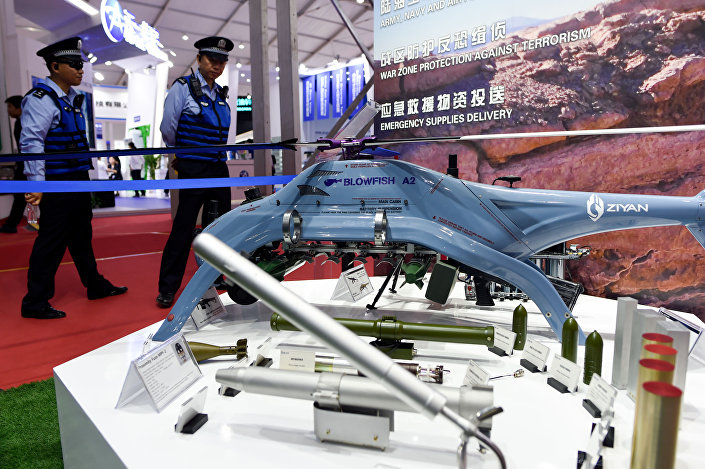 Drone BLOWFISH A2 na Exposição Internacional de Aviação & Aeroespacial da China 2018