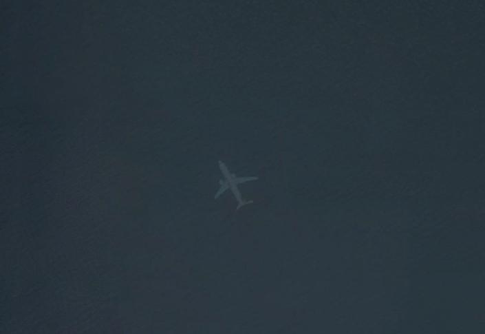 Captura de tela do Google Maps com suposto lugar onde britânico Robert Morton afirma ter encontrado um avião