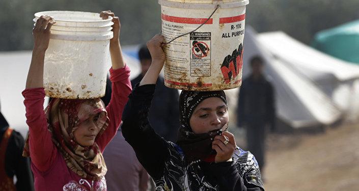 Campo de refugiados em Idlib, na Síria. Foto de 2013.