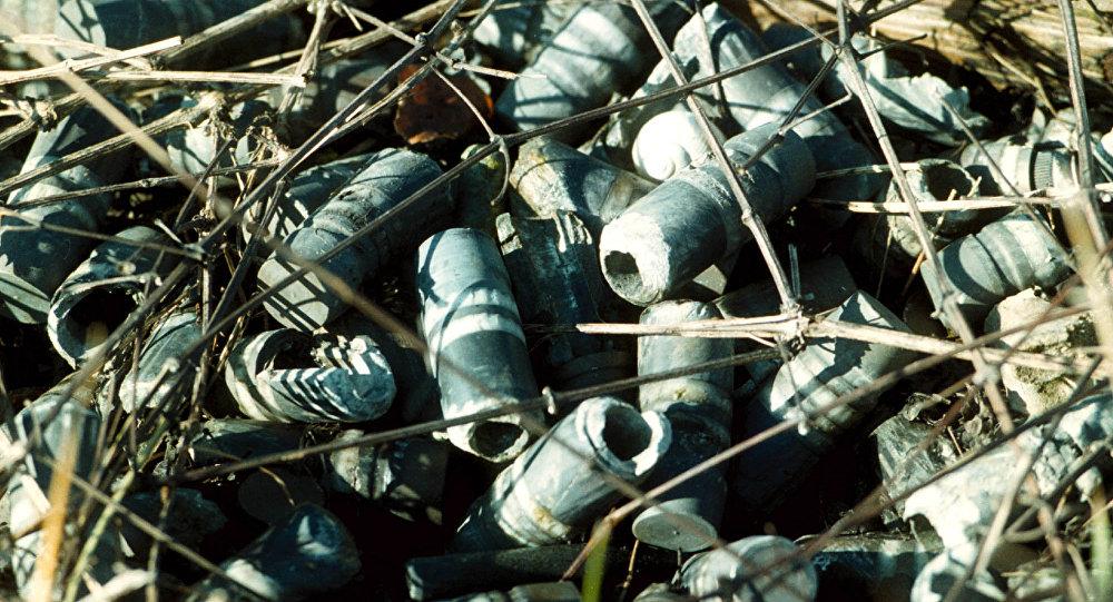 Munições com urânio empobrecido que foram usadas durante bombardeios da OTAN na Iugoslávia nos anos 90, imagem referencial