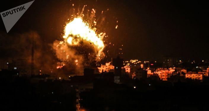 Ataque israelense com mísseis na Faixa de Gaza (imagem de arquivo)