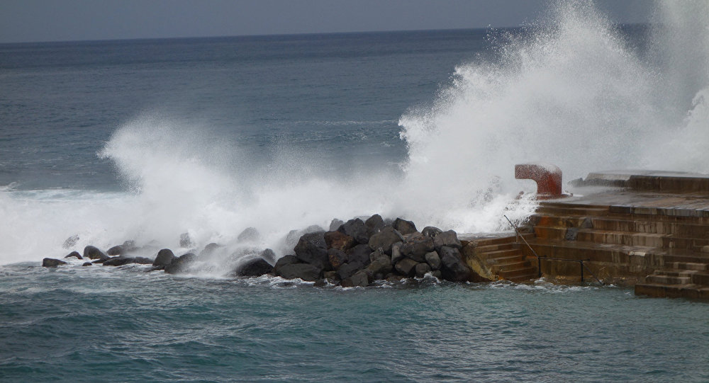 Ondas em Tenerife (ilhas Canárias, Espanha)