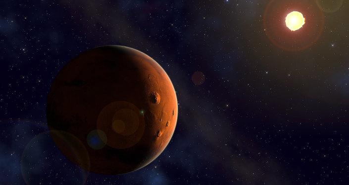 Marte e o Sol (imagem referencial)
