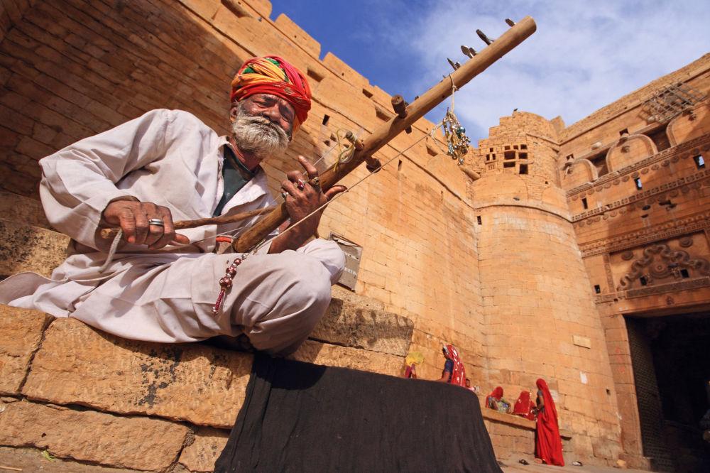 Fortaleza Jaisalmer de Cidade de Ouro, imagem do fotógrafo Rajesh Dhar