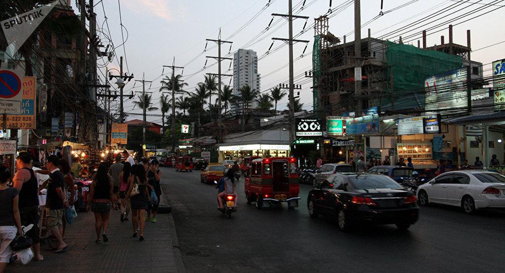 Cidade de Patong, na província tailandesa de Phuket (arquivo)
