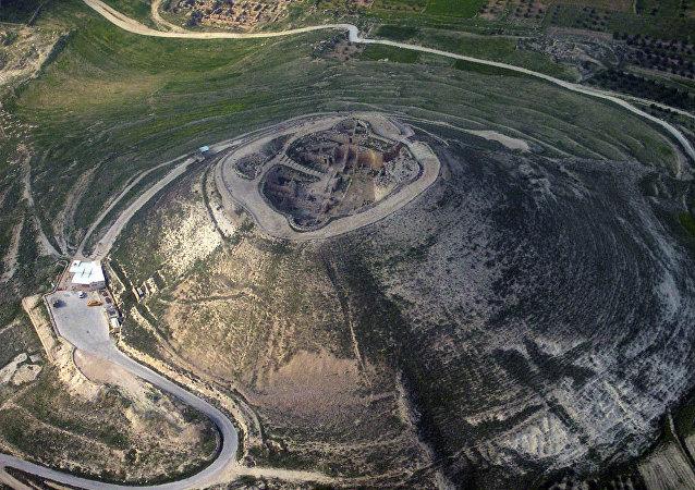 Heródio, um sítio arqueológico localizado a 12 km a sul de Jerusalém, no deserto da Judeia