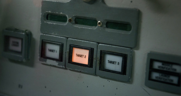 A target selector is seen at the commander's console inside a Titan II silo's control center at the Titan Missile Museum on May 12, 2015 in Green Valley, Arizona. The museum is located in a preserved Titan II ICBM launch complex and is devoted to educating visitors about the Cold War and the Titan II missile's contribution as a nuclear deterrent.