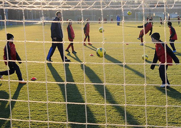 Escola de Futebol do Barcelona.