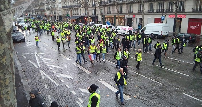 Manifestação dos coletes amarelos em Paris, em 1 de dezembro