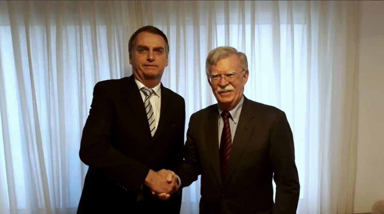 Jair Bolsonaro se encontrou com John Bolton no Rio