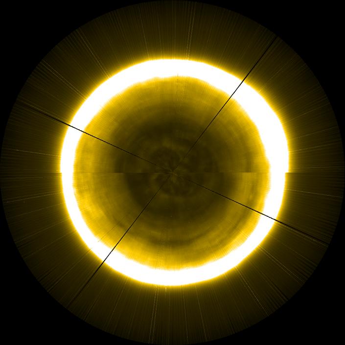 Polo norte solar fotografado pela sonda Proba-2 da Agência Espacial Europeia (ESA)