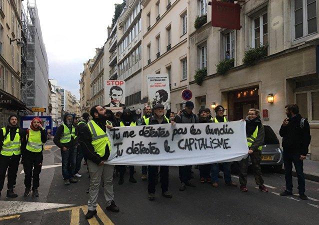 Manifestação dos coletes amarelos em Paris, 8 de dezembro de 2018