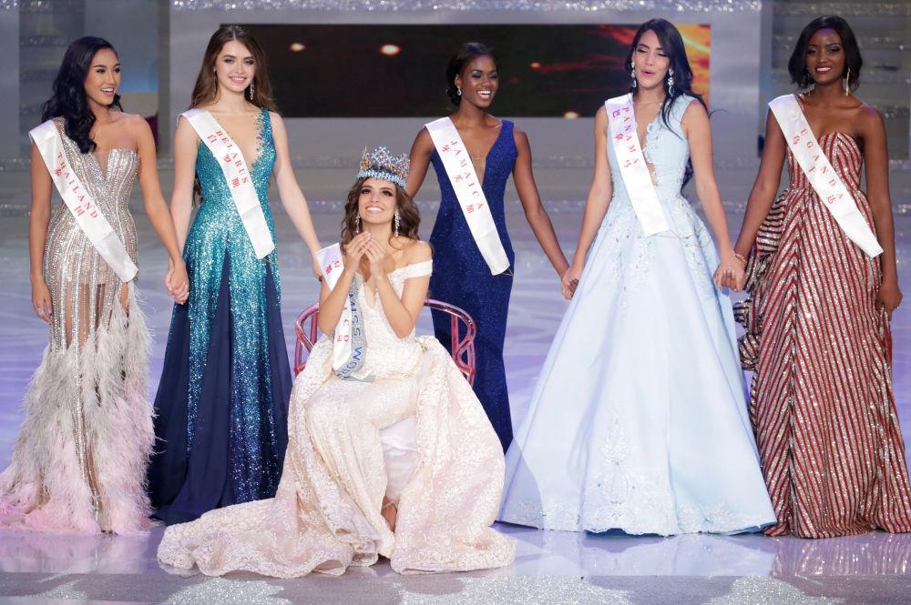 Miss México, Vanessa Ponce de Leon, celebra sua vitória no concurso Miss Mundo 2018