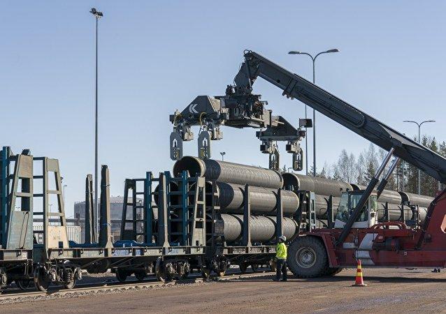 Construção do Nord Stream 2 (Corrente do Norte 2) na Finlândia (foto de arquivo)