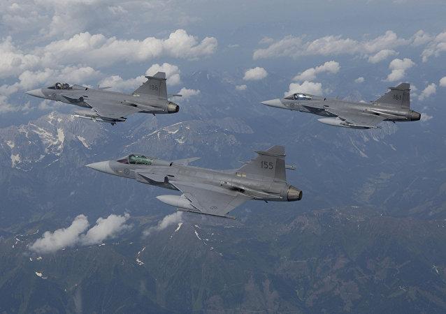 Caças suecos JAS 39 Gripen