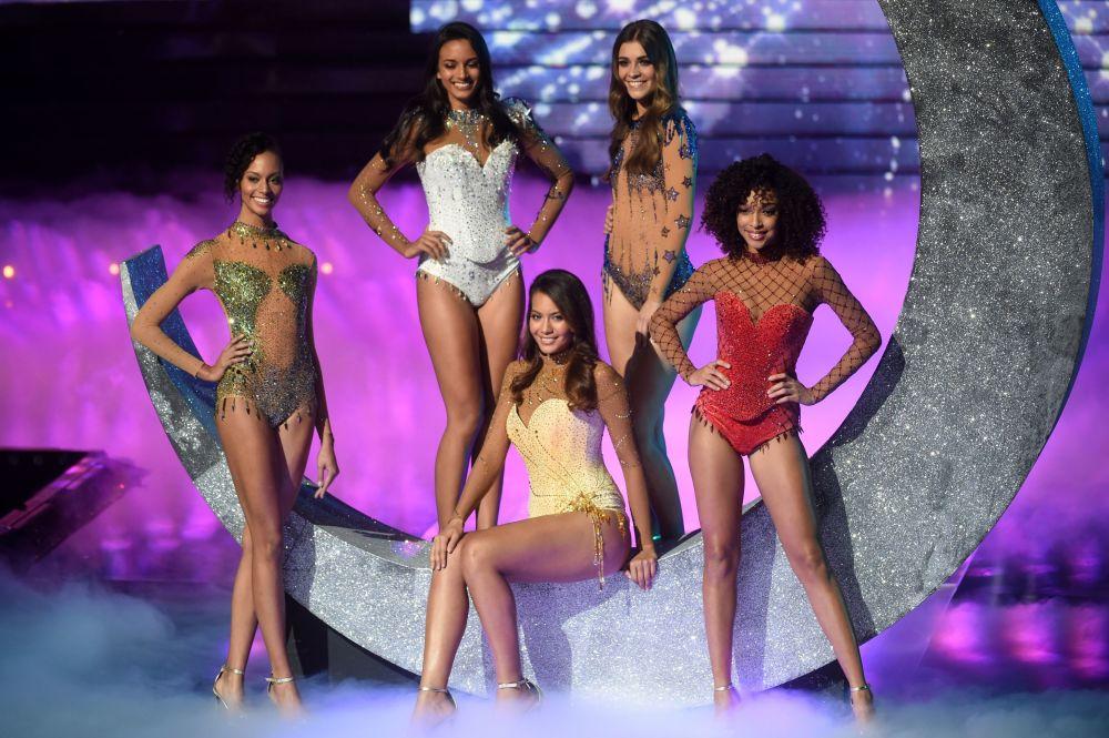 Finalistas do concurso de beleza Miss França 2019 em Lille, França, 15 de dezembro de 2018