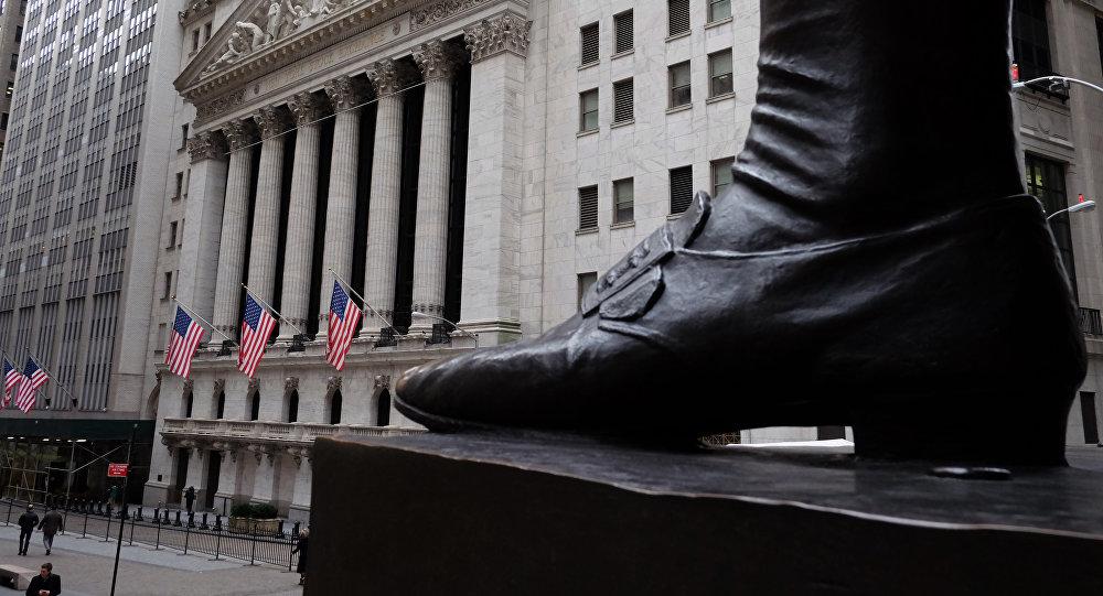 A rua Wall Street em Nova York