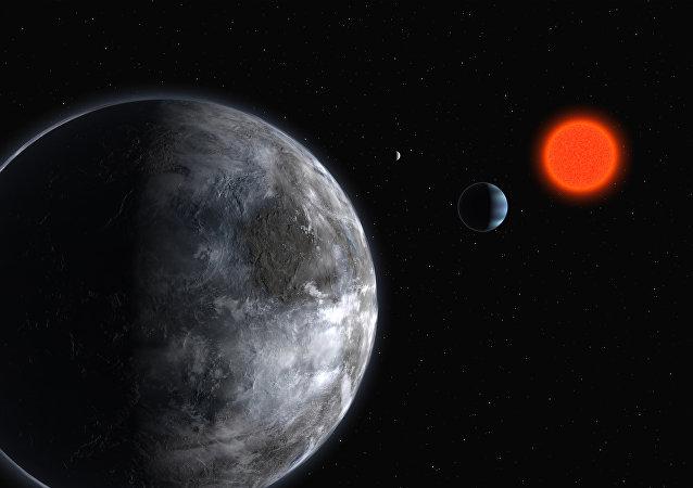 Sistema planetário em torno de anã vermelha