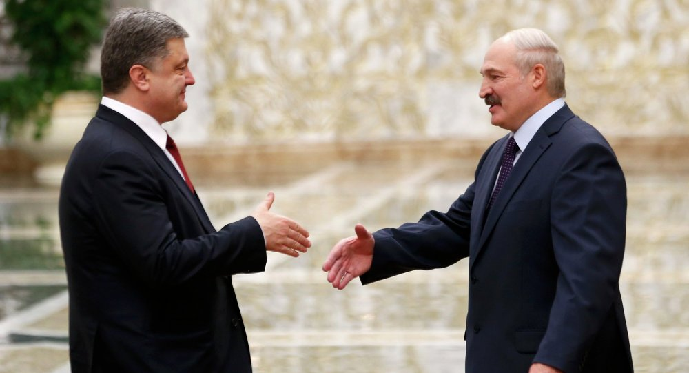 Encontro de Petro Poroshenko e Alexander Lukashenko em Minsk