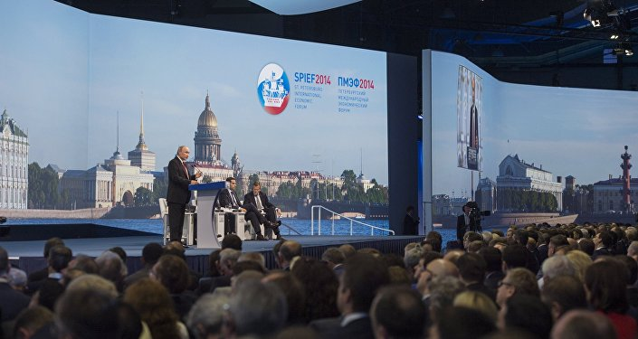 Participação de Vladimir Putin no XVII Fórum Econômico de São Petersburgo.