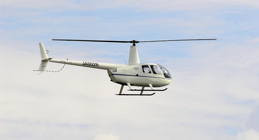 Helicóptero Robinson R44 (imagem referencial)