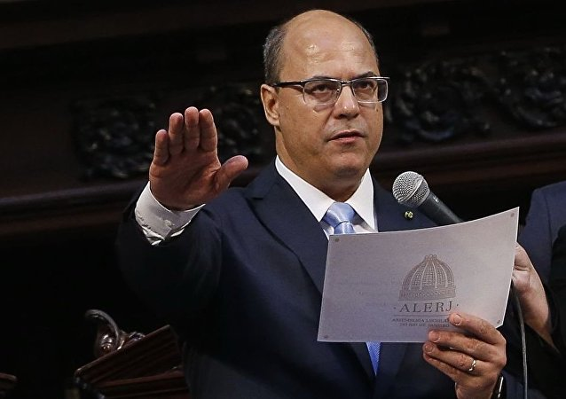O governador Wilson Witzel toma posse na Assembleia Legislativa do Estado do Rio de Janeiro (Alerj) .
