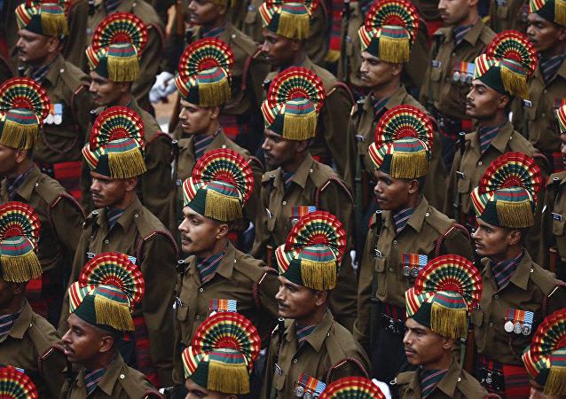 Desfile militar na Índia, janeiro de 2017, foto de arquivo