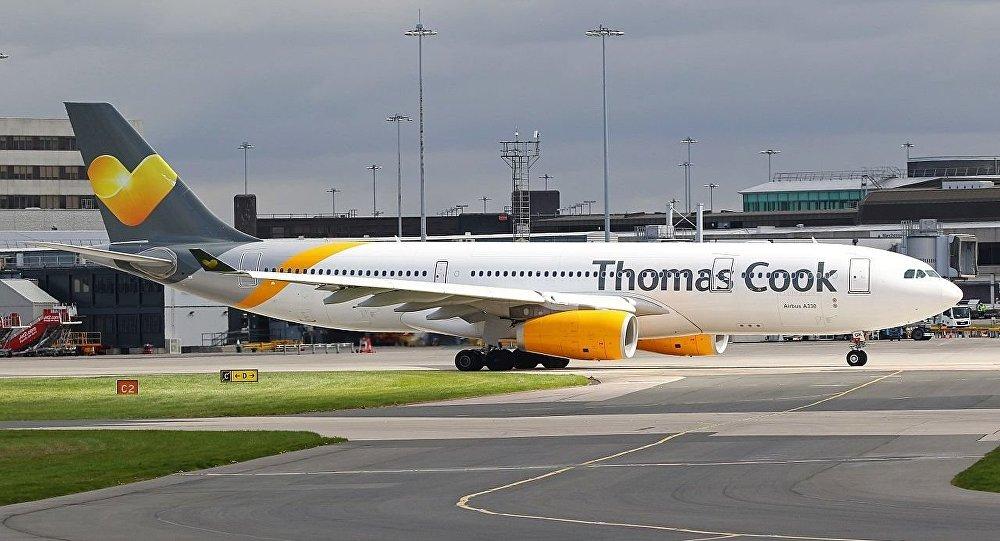 Airbus A330-243 da Thomas Cook Airlines no aeroporto de Manchester