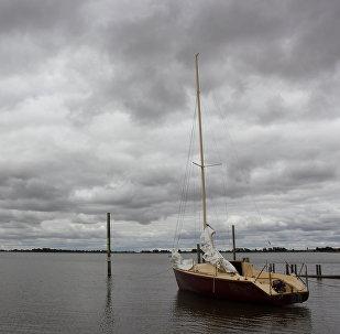 Lago Bolac na cidade australiana de Victoria