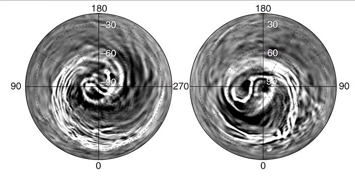 Estrutura espiral na atmosfera de Vênus, descoberta pela nave Akatsuki