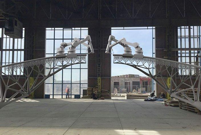 Projeção de como será a ponte impressa em 3D