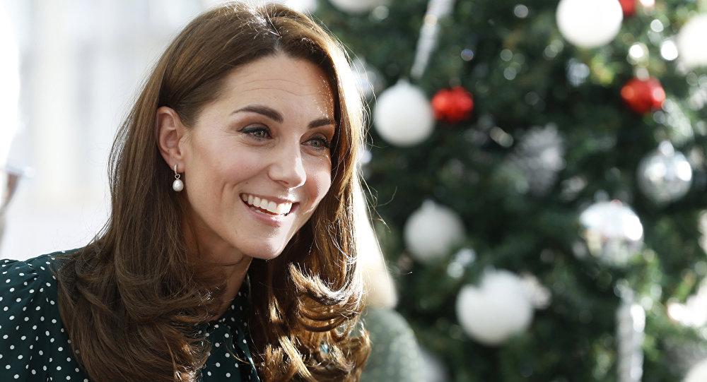 A duquesa de Cambridge, Kate Middleton durante uma visita ao Príncipe William ao Hospital Infantil Evelina em Londres (arquivo)