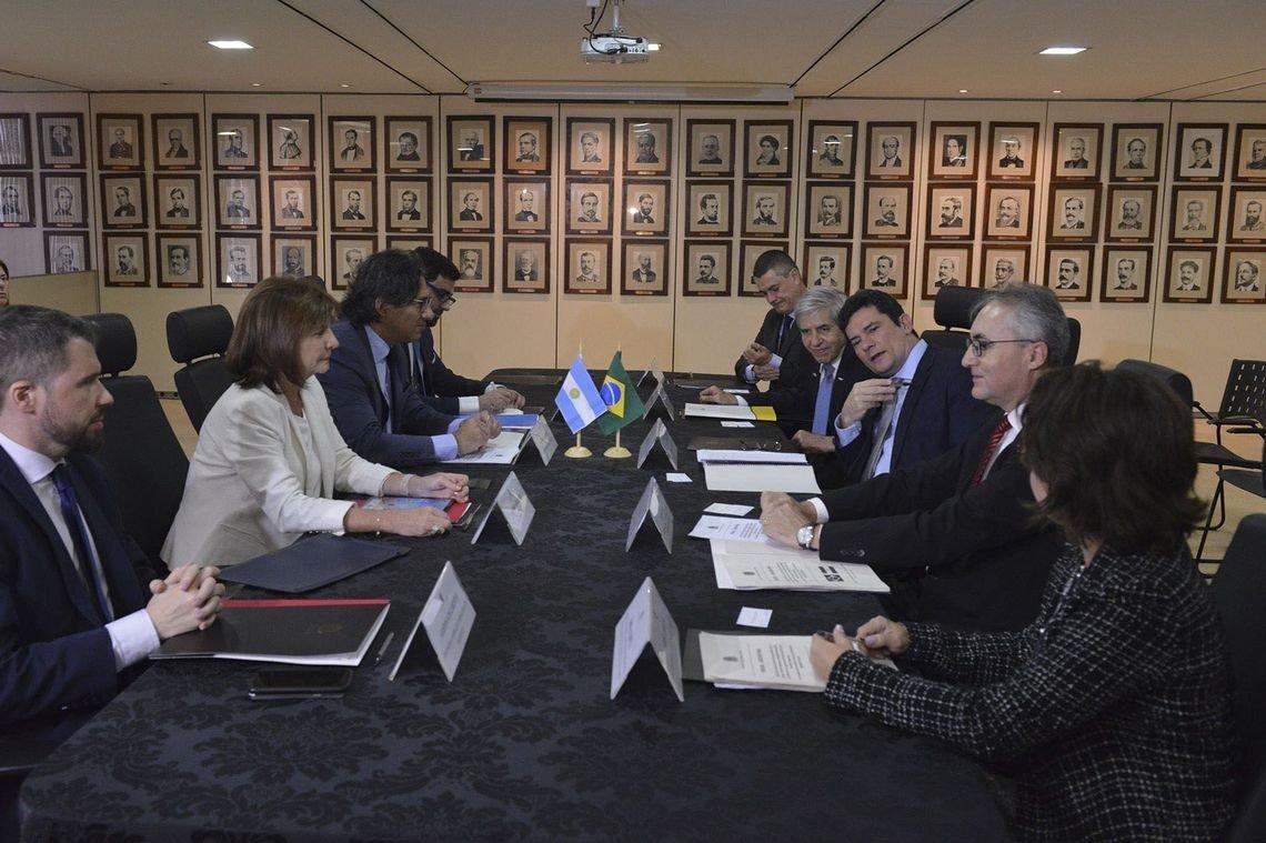 Ministro Sérgio Moro se reúne com os Ministros Argentinos