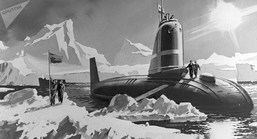 Primeiro submarino nuclear soviético, o Leninsky Komsomol