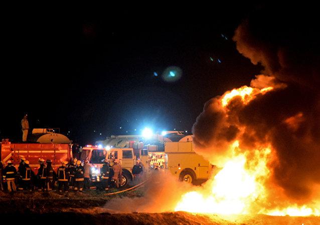 Explosão de gasoduto no México