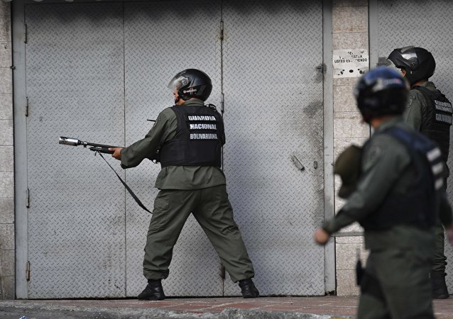 Rebelião em Caracas em 21 de janeiro de 2019.